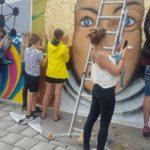Wandmalerei beim FARBFLUT FESTIVAL 2018