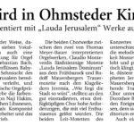 """Plakat zum Konzert """"Lauda Jerusalem"""""""